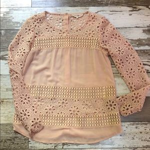 Altar'd State Sheer Lace Blouse